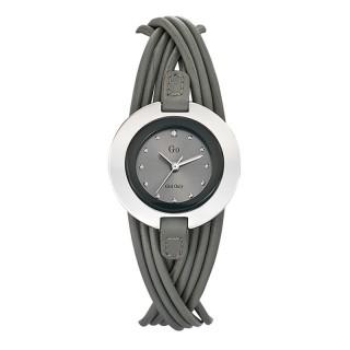 Ženski Girl Only Enlace moi Sivi Elegantni ručni sat sa sivim kožnim kaišem