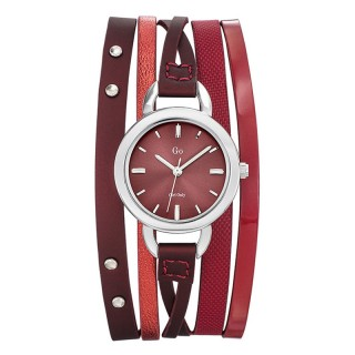 Ženski Girl Only Enlace moi Crveni Elegantni ručni sat sa crvenim kožnim kaišem