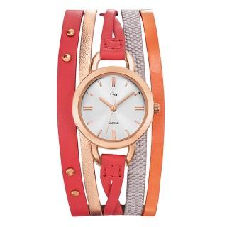 Ženski Girl Only Enlace moi Roze Zlatni Elegantni Beli ručni sat sa crvenim kožnim kaišem