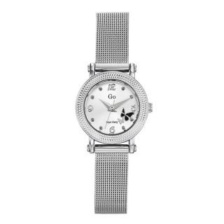 Ženski Girl Only Envole moi Beli Elegantni ručni sat sa srebrnim pancir metalnim kaišem