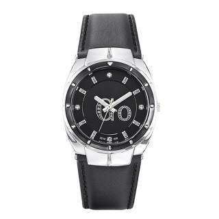 Ženski Girl Only Go Crni Modni ručni sat sa crnim kožnim kaišem