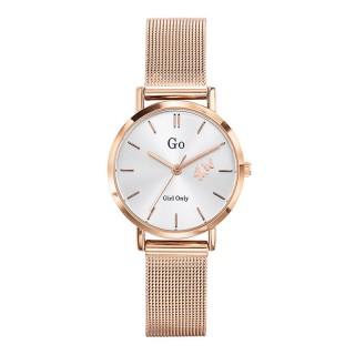 Ženski Girl Only Seduis moi Roze Zlatni Elegantni Beli ručni sat sa roze zlatnim pancir metalnim kaišem