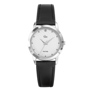 Ženski Girl Only Seduis moi Beli Elegantni ručni sat sa crnim kožnim kaišem