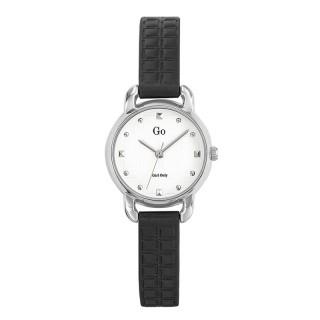 Ženski Girl Only Seduis moi Mali Beli Elegantni ručni sat sa crnim kožnim kaišem
