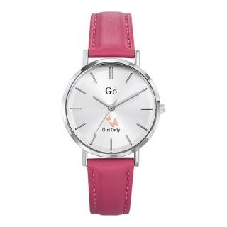 Ženski Girl Only Seduis moi Beli Elegantni ručni sat sa rozim kožnim kaišem