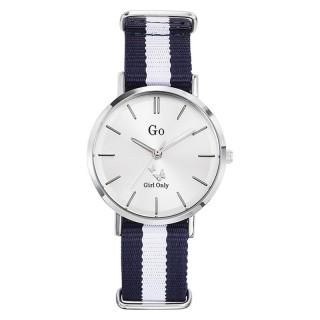 Ženski Girl Only Seduis moi Beli Elegantni ručni sat sa plavo belim nato kaišem