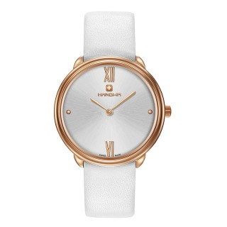 Ženski Hanowa Swiss Franca Roze Zlatni Beli ručni sat