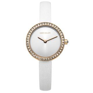 Ženski Karen Millen Zlatni Elegantni Beli ručni sat