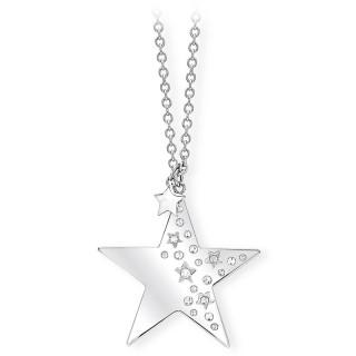 Ženski Lančić Kristalne Zvezdice Like A Star 2Jewels Od Hirurškog Čelika