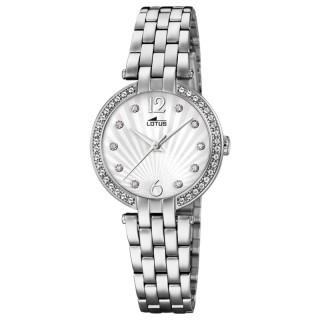 Ženski Lotus Bliss Srebrni Beli Modni ručni sat sa swarovski kristalima