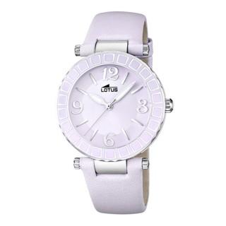 Ženski Lotus Cool Ljubičasti Elegantni ručni sat sa kožnim kaišem