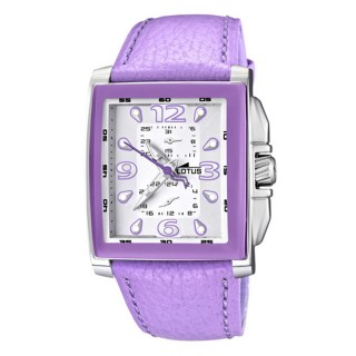 Ženski Lotus Cool Kvadratni Sportski ručni sat sa ljubičastim kaišem