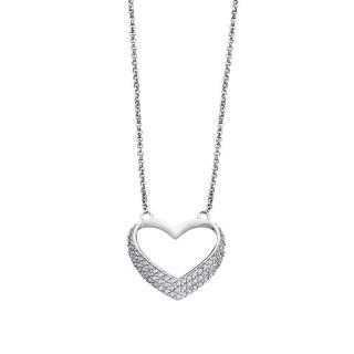 Ženski Lotus Silver Moments Srebrni Lančić Kristalno Srce