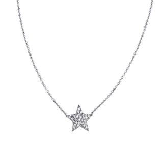 Ženski Lotus Silver Mystic Zvezdica srebrni Lančić