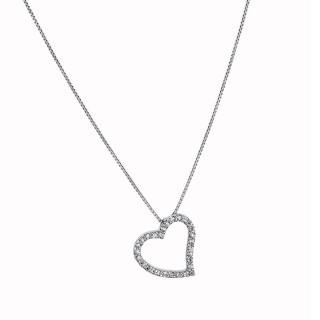 Ženski Lotus Silver Trendy Kristalno Srce srebrni Lančić