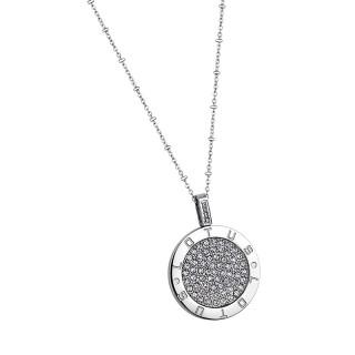 Ženski Lotus Style Bliss Lančić od hirurškog čelika sa kristalnim priveskom Cristal de Punto