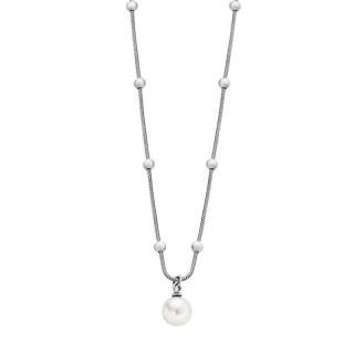Ženski Lotus Style Pearls Lančić Od hirurškog Čelika Sa Belim Bisernim Priveskom