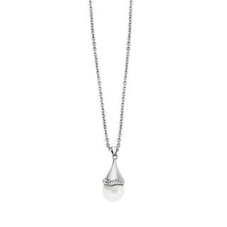 Ženski Lotus Style Pearls Lančić Od hirurškog Čelika Biserna Kap