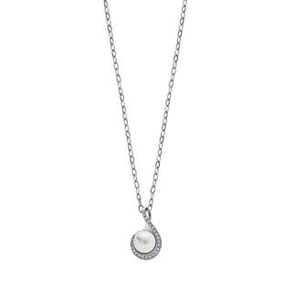 Ženski Lotus Style Pearls Lančić Od hirurškog Čelika Obavijeni Biser