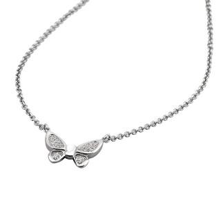 Ženski Lotus Style Rainbow Lančić od hirurškog čelika sa kristalnim leptir priveskom