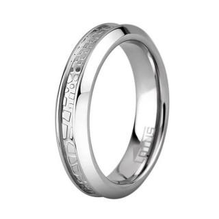Ženski Lotus Style Steel Rings UŽi Staklo Prsten Od Hirurškog Čelika 56