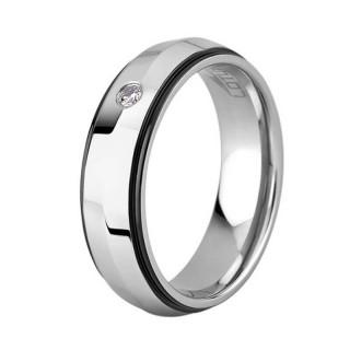 Ženski Lotus Style Steel Rings Prsten Od Hirurškog Čelika Sa Kristalom 54