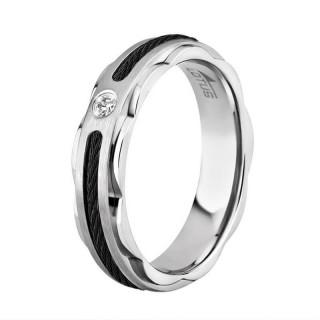 Ženski Lotus Style Steel Rings Sajla Crni Prsten Od Hirurškog Čelika 54