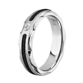 Ženski Lotus Style Steel Rings Sajla Crni Prsten Od Hirurškog Čelika 56