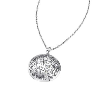 Ženski Lotus Style Woman's Heart Lančić od hirurškog čelika sa cvet priveskom