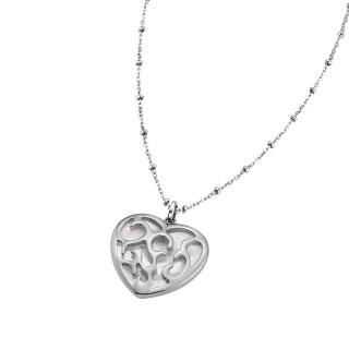 Ženski Lotus Style Woman's Heart Išarano Srce Lančić od hirurškog čelika