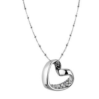 Ženski Lotus Style Woman's Heart Lančić od hirurškog čelika sa priveskom uvrnuto srce
