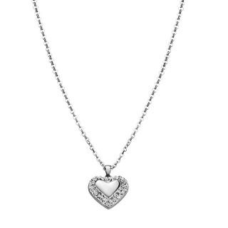 Ženski Lotus Style Woman's Heart Lančić od hirurškog čelika sa priveskom srce Glow