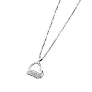 Ženski Lotus Style Woman's Heart Srce Lančić od hirurškog čelika