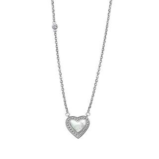 Ženski Lotus Style Woman's Heart Lančić Od hirurškog Čelika Kristalno Sedef Srce