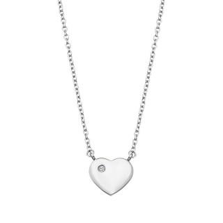 Ženski Lotus Style Woman's Heart Lančić Od hirurškog Čelika Srce