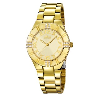 Ženski Lotus Trendy Biserni Zlatni Modni ručni sat