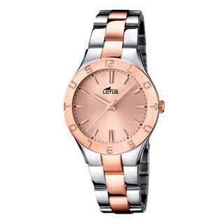 Ženski Lotus Trendy Roze Zlatni Elegantni ručni sat sa bikolor metalnim kaišem