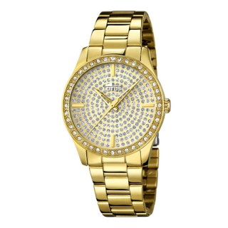 Ženski Lotus Trendy Kristal Zlatni Modni ručni sat