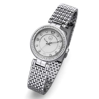 Ženski Oliver Weber Beli Elegantni ručni sat sa swarovski kristalima