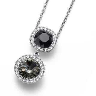 Ženski Oliver Weber Port Black Diamond Jet Lančić Sa Swarovski Crnim Kristalnim Priveskom