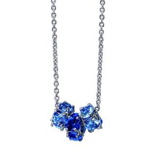 Ženski Oliver Weber Reel Blue Lančić sa swarovski plavim kristalnim priveskom