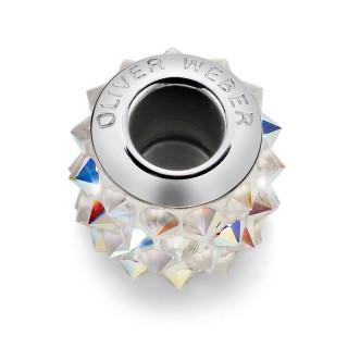 Ženski Oliver Weber Spike Steel Crystal AB privezak sa swarovski kristalom za narukvicu