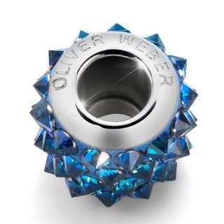 Ženski Oliver Weber Spike Steel Bermuda Blue privezak sa swarovski plavim kristalom za narukvicu