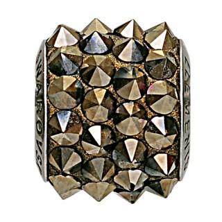 Ženski Oliver Weber Spike Steel Metallic privezak sa swarovski žutim kristalom za narukvicu