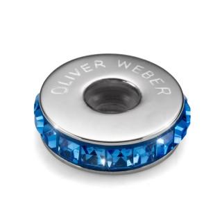 Ženski Oliver Weber Stopper Steel Sapphire privezak sa swarovski plavim kristalom za narukvicu