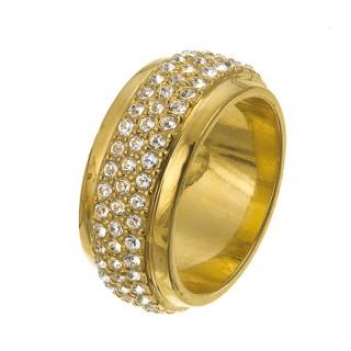 Ženski Oliver Weber Vento Gold Crystal Zlatni prsten sa swarovski kristalom