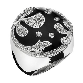 Ženski Oliver Weber Since Crystal prsten sa swarovski crnim kristalom