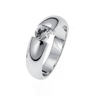 Ženski Oliver Weber Solitaire Crystal prsten sa swarovski belim kristalom M