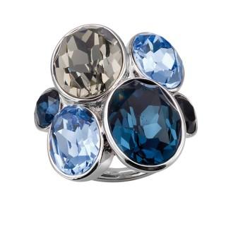 Ženski Oliver Weber Event Blue prsten sa swarovski plavim kristalom