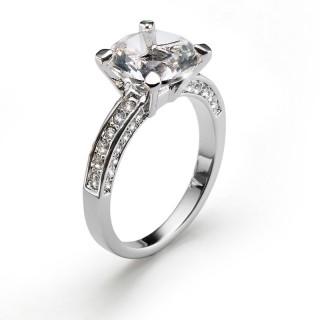 Ženski Oliver Weber Princess Crystal prsten sa swarovski belim kristalom M